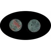 Moneda romana AS Patina verde EMPORITON-EMPORIA