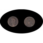 Moneda romana AS Claudio I emperador de 41 a 54 d.C. Acuñada a mediados del siglo