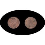 Moneda romana AS Claudio I, emperador de 41 a 54 D.C.
