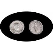 Moneda romana Antoniniano Gordiano III, emperador de 238 a 244 d.C. Plata