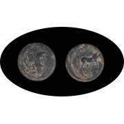 Moneda romana Semis Emporiton La Escala Gerona