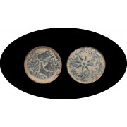 Moneda romana AS Málaga Inicio siglo I a.C.