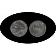 Moneda romana  Calco Hispano-Cartaginés