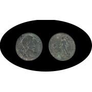 Moneda romana Follis Magno Clemente Máximo