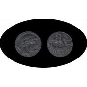 Moneda romana AS Bolskan (Huesca) 2ª mitad siglo II AC.