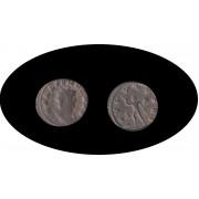 Moneda romana Antoniniano Galieno emperador romano de 260 a 268 d.C.