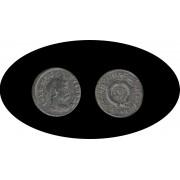 Moneda romana Follis Crispo César de 317 a 323 d.C.
