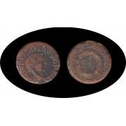Moneda romana AS Tiberio emperador romano desde 14 hasta 37 d.C.