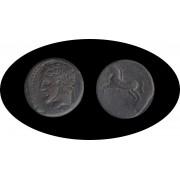 Moneda romana AE Reino de Numidia Rey Micipsa circa 148-118 a.C.