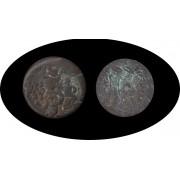 Moneda romana AE18 Ptolomeo VI Filometor faraón 181 y 145 a. C.