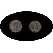 Moneda romana Follis Constantino II César en Occidente: 317-337 d.C. emperador