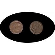 Moneda romana Follis Constancio II César: 337-347 AC Augusto: 347-355 AC