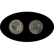 Moneda romana Follis Constantino I el Grande