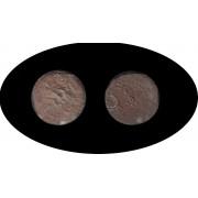 Moneda romana Semis Ebusus (Ibiza) Acuñada a finales del siglo II a.C.