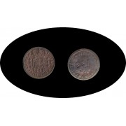 Moneda romana 1 Maravedi Felipe V, rey de España de 1700 a 1746.
