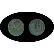Moneda romana AS Cómodo hijo de Marco Aurelio emperador romano: 161-180 d.C.
