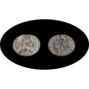 Moneda romana Follis o Cententional o A3 Valentiniano I emperador romano