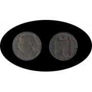 Moneda romana Follis o AE3 Constantino II, César: 317-337 d.C