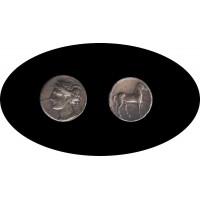Moneda  Estátera de Electrón ZEUGITANIA-CARTAGO 375-320 a.C.