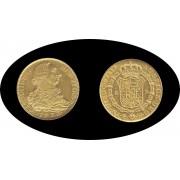 España Spain 8 Escudos 1773 Carol Carlos III Madrid PJ Oro Au