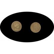 España Spain 80 Reales 1845 Barcelona PS Isabel II Oro Au gold