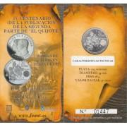 España Spain 2015 Cartera Oficial Moneda 30€ euros Quijote Cervantes Plata FNMT