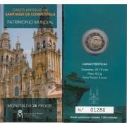 España Spain 2018 Cartera Oficial Moneda 2€ euros comm. Proof Compostela