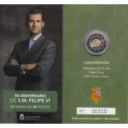 España Spain 2018 Cartera Oficial Moneda 2€ euros comm. Proof Av Felipe VI