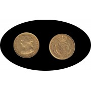 España Spain Isabel II 1859 100 Reales Madrid Oro Au gold