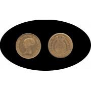 España Spain Isabel II 1850 100 reales Doblón Madrid Oro Au Gold