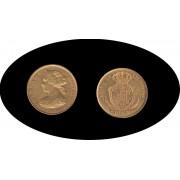 España Spain Isabel II 1860 100 reales Madrid Oro Au Gold