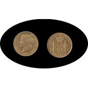 Filipinas  Isabel II 1862 4 pesos Oro Au Gold