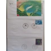 Colección Collection Brasil SPD FDC Sobres Primer dia 1996 - 2001