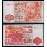 España Billete 2000 Pesetas 22 7 1980  Serie 1Z  MBC doble impresión en dorso