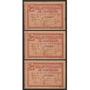Billete local 1937 Trio Unió de Cooperadors de Barcelona 5 Pesetas  SC-
