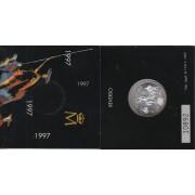 España Spain Cartera Oficial 1997 Moneda 2000 ptas Juan Carlos Miguel  Cervantes
