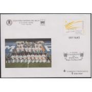 Sobres Enteros Postales 78 Centenario Real Madrid 2002 Fútbol Sobrecarga Campeón de Europa 9 veces