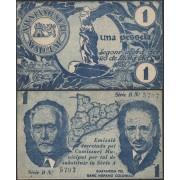 Billete local 1937 Malgrat 1 pta Macià y Companys Sin Circular