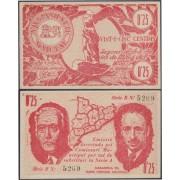 Billete local 1937 Malgrat 0,25 cts Macià y Companys Sin Circular