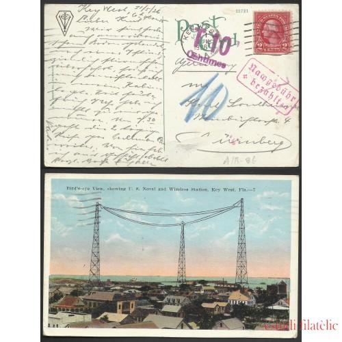 Estados Unidos Postal de Key West a Nuremberg (Alemania) 1926