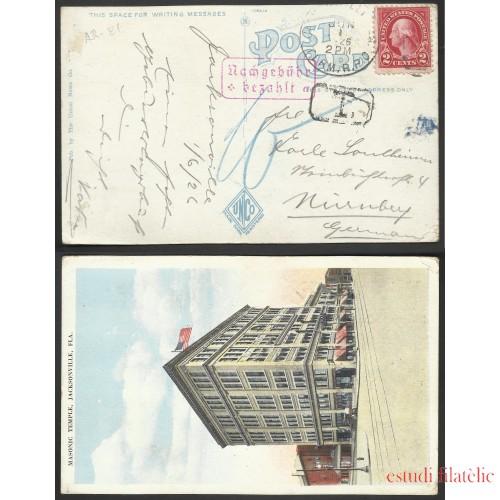 Estados Unidos Postal de Jacksonville a Nuremberg 1926