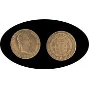 España Spain 8 Escudos 1824 Ferdin Fernando VII Potosi PJ Oro G