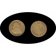 España Spain 2 escudos 1806 Madrid  FA Carol Carlos IIII Oro Gold