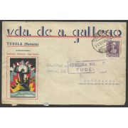 España Carta de Tudela Barcelona 1939 Marca Censura Tudela