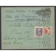 España Carta de Zaragoza a Barcelona 1939 Marca Censura Zaragoza