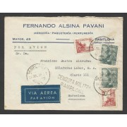 España Carta de Pamplona a Barcelona 1939 Marca Militar Pamplona