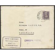 España Carta de Las Palmas de Gran Canaria a Barcelona 1939