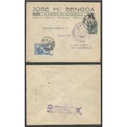 España Carta de Bilbao a Barcelona 1939 Marca Censura Militar y Arriba España