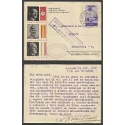 Postal de Larache (Marruecos) a Nuremberg 1938 Marca Censura Militar Larache