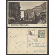 España Postal de Andorra a Barcelona 1951